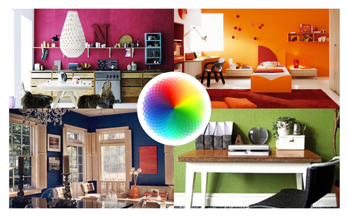 Interior design pareti colorate e psicologia del colore - Colore per imbiancare casa ...