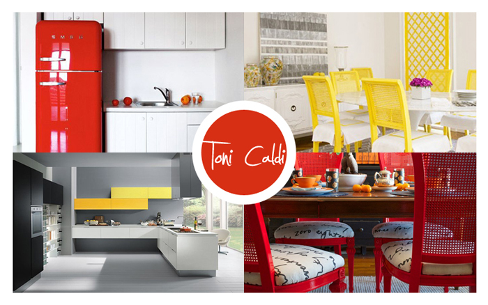 Parete Colorata In Cucina : Simple pareti colorate rosse o gialle in casa with