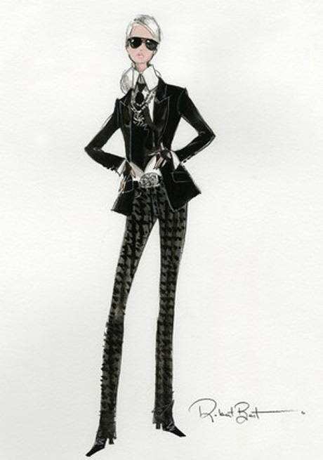 Barbie come Karl Lagerfeld